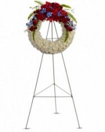 Patriotic Wreath Sympathy