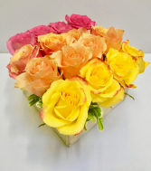 Ombre Collection 4x4 Roses in a Box