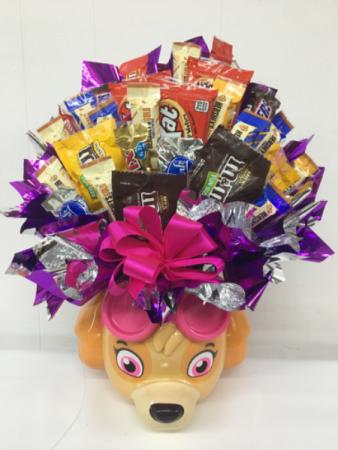 Paw patrol skye candy bouquet Gift item