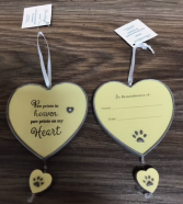 Paw prints on my heart ornament Place for Name and date on back