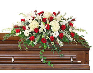 Peace Always Casket Spray in Anadarko, OK | SIMPLY ELEGANT FLOWERS ETC