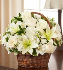 Peace and Blessings (White) Basket