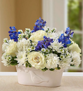 Peace and Healing™ in Dove Planter Blue & White