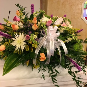 Peace Elegant Soft Florals.  Peach, Pink, Purple, and White in Plainview, TX | Kan Del's Floral, Candles & Gifts