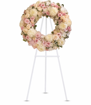 Peace Eternal Wreath Standing Easel in Rossville, GA | Ensign The Florist