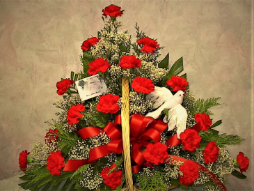 Peace funeral arrangement