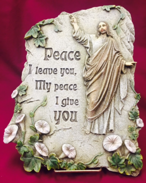Peace I Leave You stone  in Rensselaer, IN | JORDAN'S
