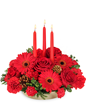 Peace ~ Joy ~ Noel Holiday Centerpiece in Rowley, MA | COUNTRY GARDENS FLORIST