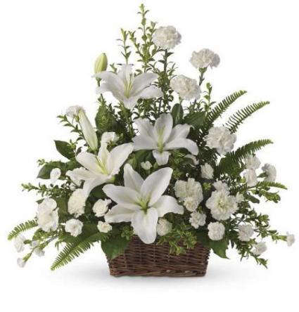 Peace Lilies Basket
