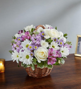 Peace, Prayer & Blessing - Lavender & White Sympathy Arrangements