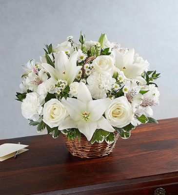Peace, Prayer & Blessing - White Sympathy Arrangements