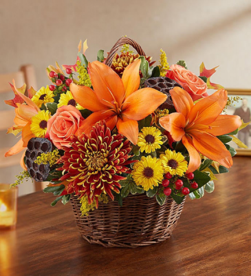 peace, prayers and blessings fall floral arrangement
