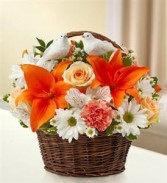 Peace, Prayers & Blessings - Peach, Orange & White Funeral - Sympathy