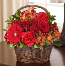 Peace, Prayers, & Blessings- All Red Sympathy Arrangement