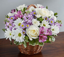 Peace, Prayers & Blessings™ Lavender & White Sympathy Arrangement