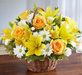 Peace, Prayers & Blessings™ Yellow & White Sympathy Arrangement
