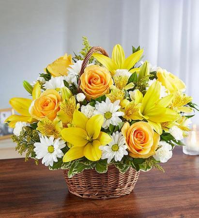 Peace, Prayers & Blessings Yellow & White Sympathy