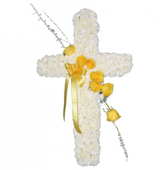 Peace & Prayers Sympathy Cross Standing Spray