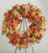 Peach Tribute  Wreath SY138