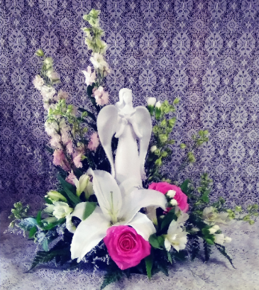 Peaceful Angel Floral Design