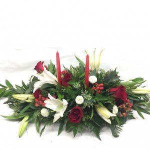 Candlelit Lilies  Christmas