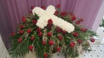 Peaceful Cross casket cover