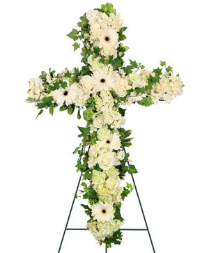 Cross of Peace Standing Spray in Russellville, AR | CATHY'S FLOWERS & GIFTS
