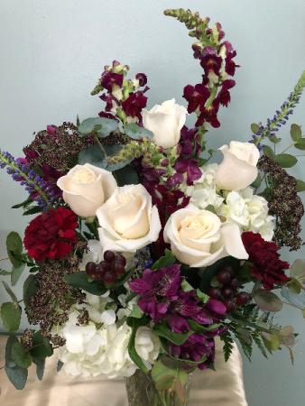 Peaceful Elegance fresh vase arrangement