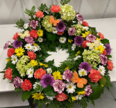 Peaceful Garden Sympathy Urn Wreath