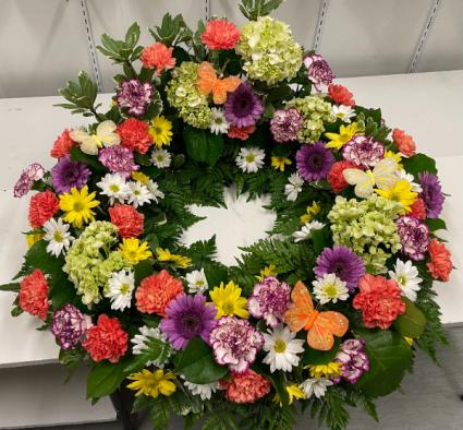 Peaceful Garden Sympathy Urn Wreath