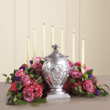 Peaceful Goodbye Cremation/Urn arrangement (URN NOT INCLUDED)