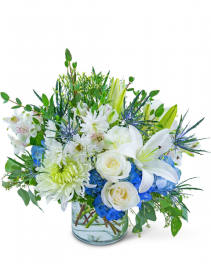 Peaceful Horizon Flower Arrangement