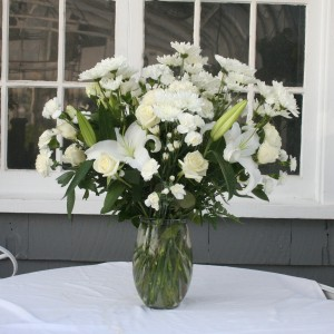 Peaceful Inspiration vase arrangement in North Adams, MA | MOUNT WILLIAMS GREENHOUSES INC