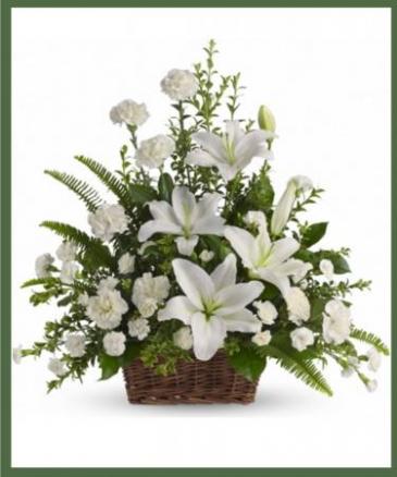Peaceful Lilies Basket