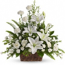Peaceful Basket of Serenity  Funeral Bouquet in Whitesboro, NY | KOWALSKI FLOWERS INC.