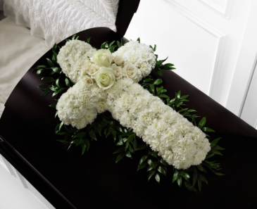 Peaceful Memories Casket Spray Sympathy
