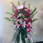 Peaceful memories  Pinks arrangement