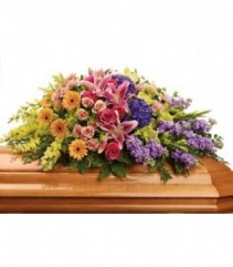 Garden Of Blooms Casket Spray