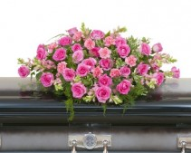 Peaceful Pink Casket Spray - As Shown (Deluxe) Spray