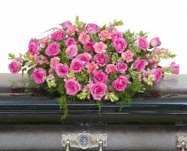 Peaceful Pink Casket Spray