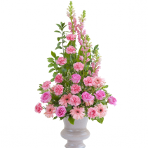 Peaceful Pink Large Urn