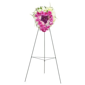 Peaceful Pink Standing Heart - As Shown (Deluxe) Spray