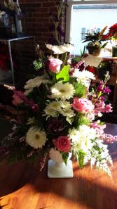 Peaceful Pink Sympathy arrangements