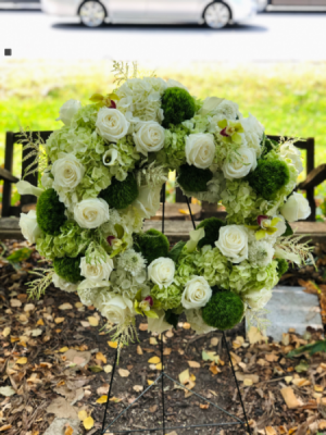 Peaceful Promises  Sympathy Wreath Arrangement in Iowa City, IA | Every Bloomin' Thing