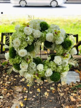 Peaceful Promises  Sympathy Wreath Arrangement