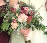 Peaceful Protea  Bridal Bouquet