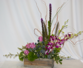 PEACEFUL PURPLE TRIBUTE Flower Arrangement