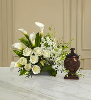 Peaceful Sendoff Cremation/Urn arrangement (URN NOT INCLUDED)