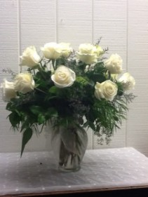 Rose Garden White Rose Arrangement