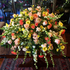 Peaceful Tears Casket Spray in Greeley, CO | ERICKSON'S FLOWERS